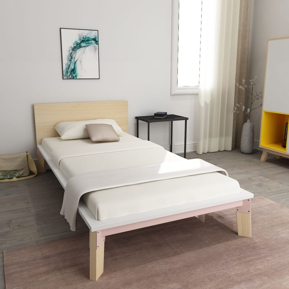 Modern design double bed online in indiawhite   mohh
