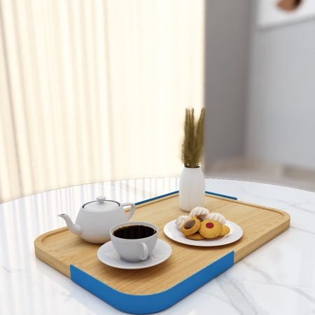 Wooden Serving Tray Blue | mohh |