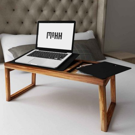 Buy a Lapeze wooden side table for bedroom minimal space sleek design features it easy to carry anywhere