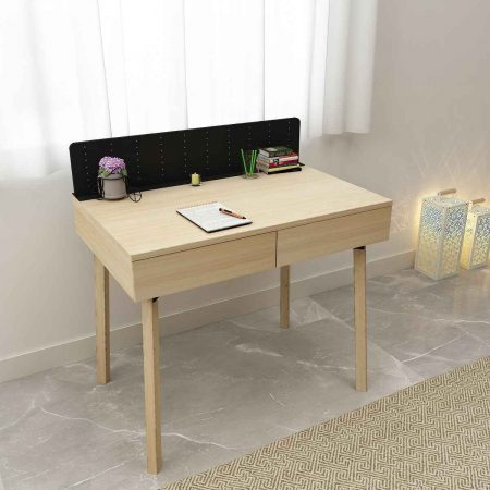 Buy a modern sleek and tasteful Eva Study Table Medium elm wooden side console work desk comfortably on your side space look classy