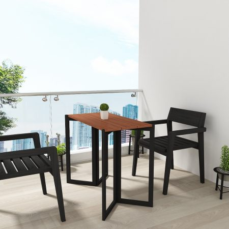 Buy a wooden side table outdoor Crafted with the sturdy IPE woodperfect dining table to place outdoors with its chic design and superior materials fabric colours, polish, wood colours with rectangle shape